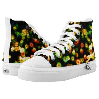 Magic Neon Flowers Funky Sneakers