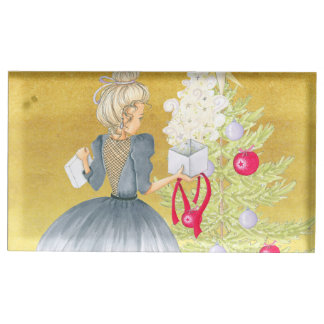 Magic of Christmas - Blonde Decorating A Tree Place Card Holder