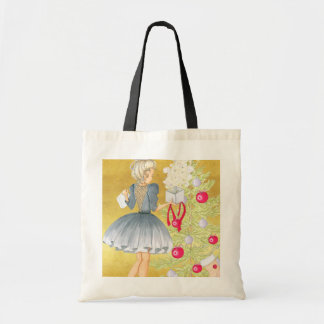 Magic of Christmas - Blonde Decorating A Tree Tote Bag