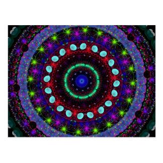 Magic Orbs Mandala Postcard