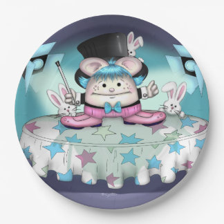 MAGIC PET 2 CARTOON  Paper Plates 9""