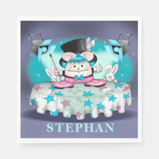 MAGIC PET CARTOON Standard Luncheon Paper Napkins