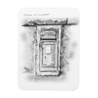 'Magic' Postbox at Kilkerran, Campbeltown Rectangular Photo Magnet