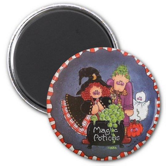 Magic Potions Button Magnet