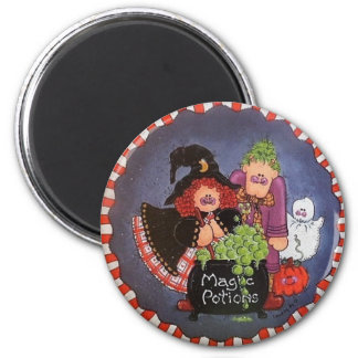 Magic Potions Button Pin Magnet
