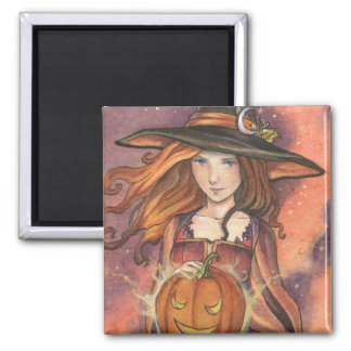 Magic Pumpkin Witch by Meredith Dillman Magnet
