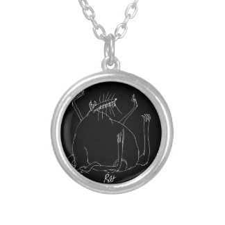 magic rat silver plated necklace