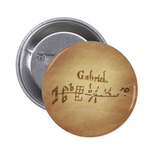 Magic Seal Angel Gabriel Protection Magic Charms Button
