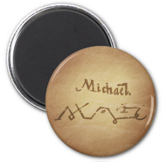 Magic Seal Angel Michael Protection Magic Charms 6 Cm Round Magnet