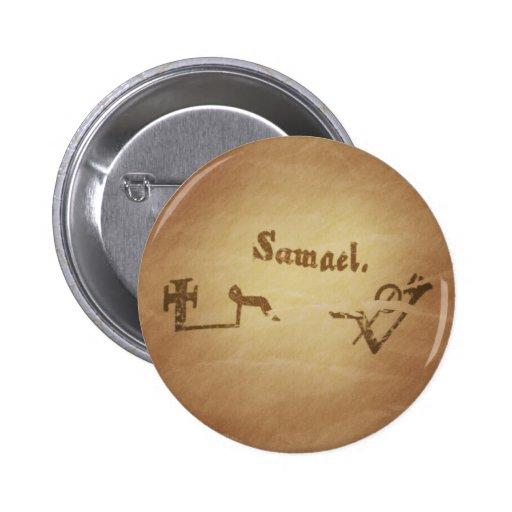 Magic Seal Angel Samael Protection Magic Charms Buttons