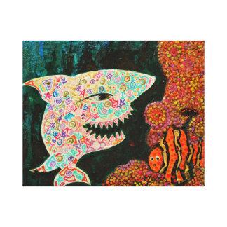 Magic Shark - Magic creatures Art Canvas Print
