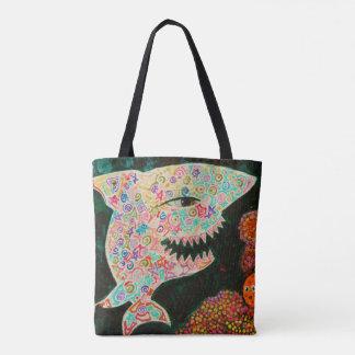 Magic shark tote bag