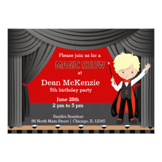 Magic Show birthday party Personalized Invites