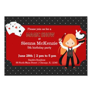 Magic Show birthday party 13 Cm X 18 Cm Invitation Card