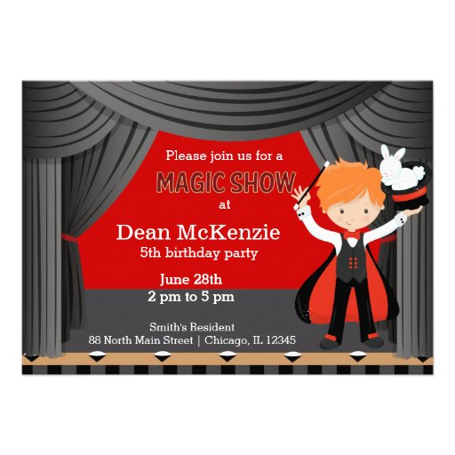 Magic Show birthday party Card