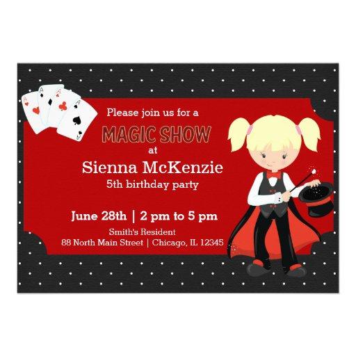 Magic Show birthday party Custom Announcements