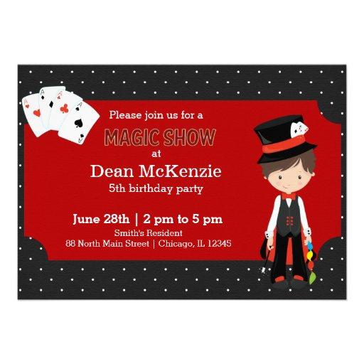 Magic Show birthday party Invites