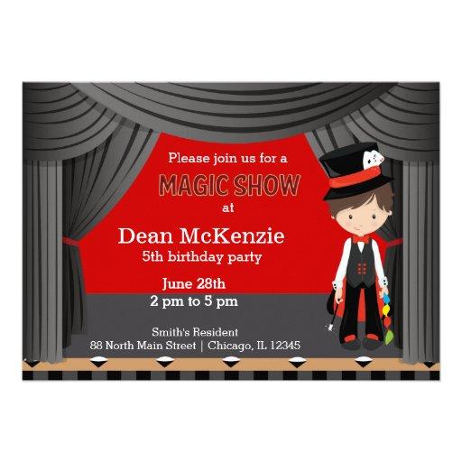 Magic Show birthday party Custom Invite