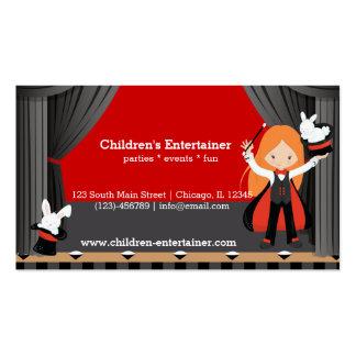 Magic Show Business Card Template