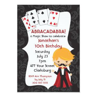 Magic Show 13 Cm X 18 Cm Invitation Card