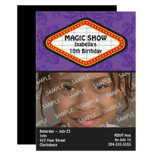 Magic Show Marquee Birthday Party Card