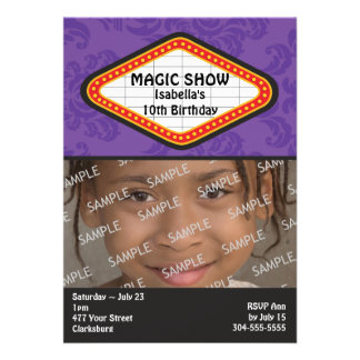 Magic Show Marquee Birthday Party Invite
