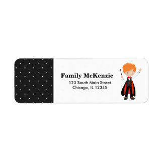 Magic show return address label