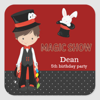 Magic Show Square Sticker