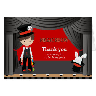 Magic Show Thank you Card