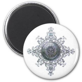 Magic Snowflake 6 Cm Round Magnet