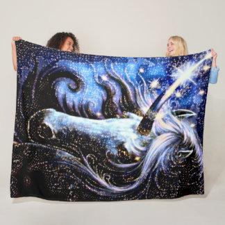 Magic Space Unicorn Plush Fleece Blanket