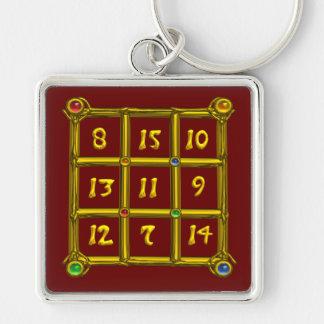 MAGIC SQUARE 33 , Red Key Ring