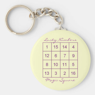 Magic Square Basic Round Button Key Ring