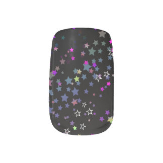 Magic Stars, Stardust, Midnight Black Minx Nail Art