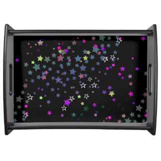 Magic Stars, Stardust, Midnight Black Serving Tray