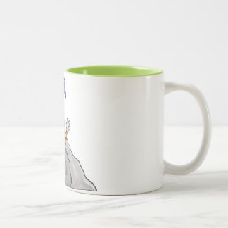 magic stone Two-Tone coffee mug