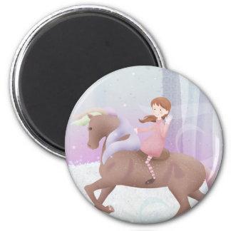 Magic the Pony 6 Cm Round Magnet