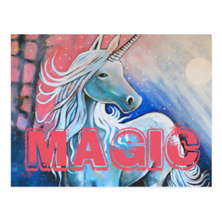 Magic the unicorn postcard