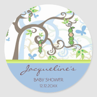 Magic Trees Pea In A Pod Boy Baby Shower Stickers