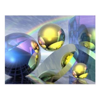 Magic under the rainbow post card
