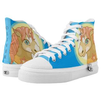 Magic Unicorn cartoon baby fantasy illustration Printed Shoes