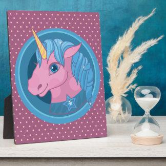 Magic Unicorn cartoon baby illustration Cute horse Plaque