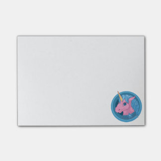 Magic Unicorn cartoon baby illustration Cute horse Post-it Notes