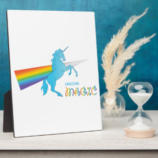 Magic Unicorn with rainbow Plaques
