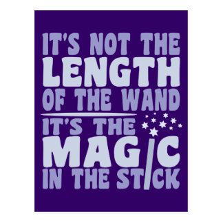MAGIC WAND custom postcard