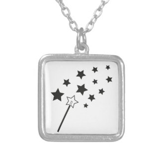 Magic Wand Silver Plated Necklace