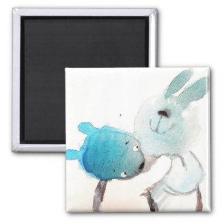 magic watercolor art Square Magnet