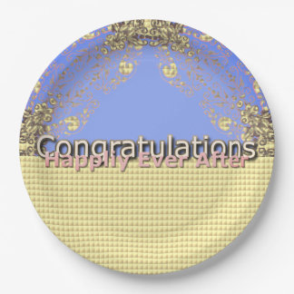 Magic-Wedding-Abstract-Lavender-Multi-Sz Paper Plate
