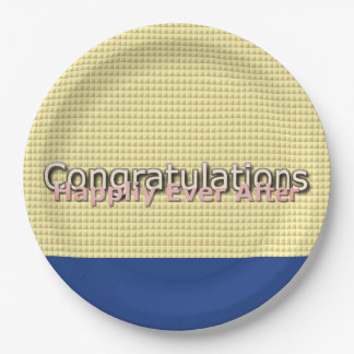 Magic-Wedding-Navy-Gold-Multi-Sz Paper Plate