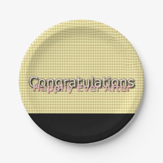 Magic-Wedding-Pink-Black-Gold-Multi-Sz Paper Plate
